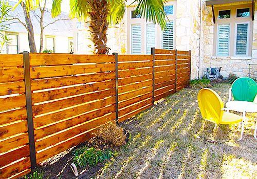 Austin Horizontal Plank Fence Contractors