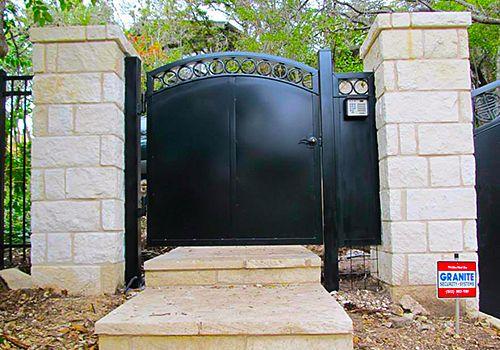 Walk Gates Installed at Austin Residential